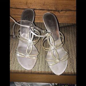 Silver bling bling Heels